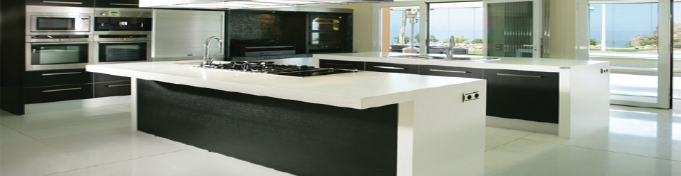 Corian Kitchen Worktop in white