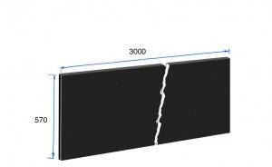 3000mm x 570mm x 20mm Splashback
