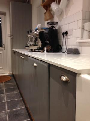 kitchen worktops and door knobs