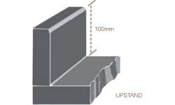 60mm/100mm Square Upstand