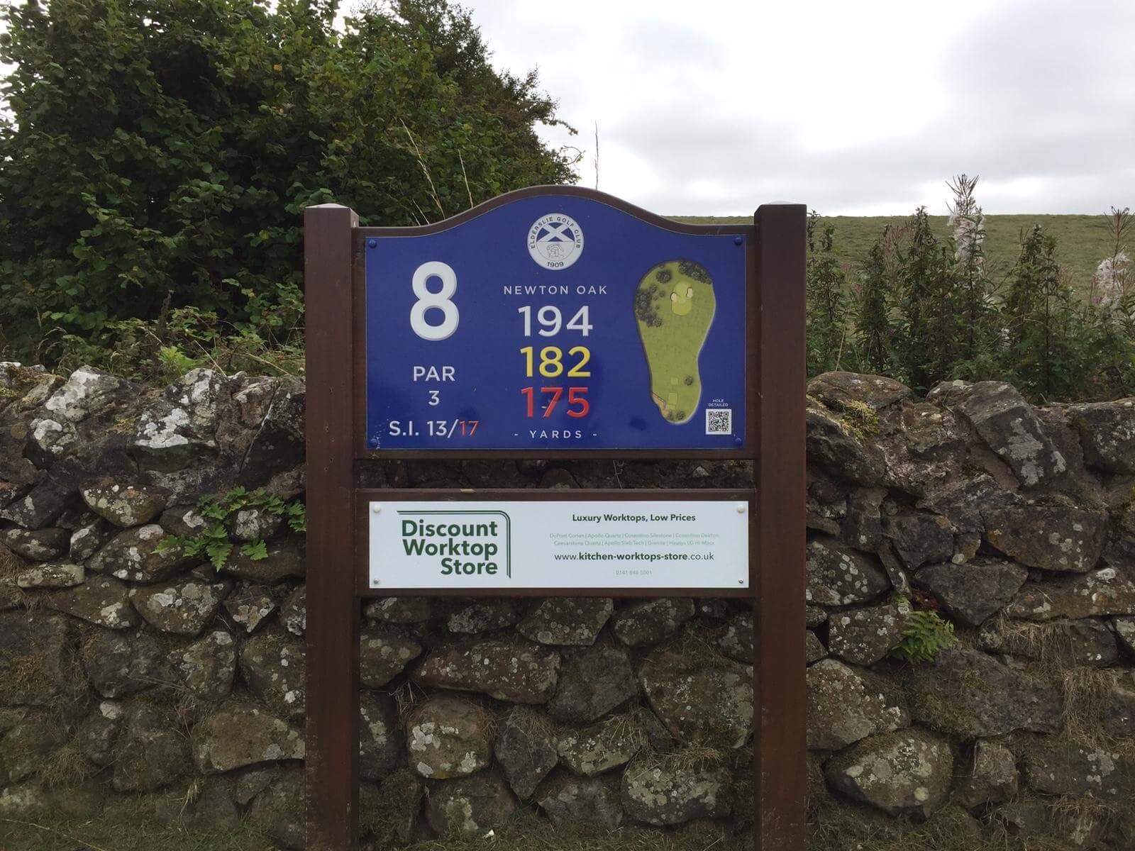 sponsor of the 8th hole at Elderslie Golf Club