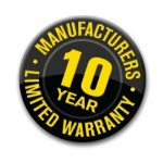10 year manufacturer warranty for counter tops